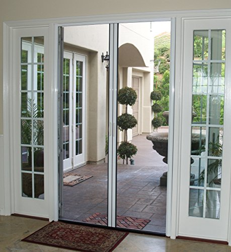 Casper Retractable Double Door Screen (White) (Inswing French Patio Doors)