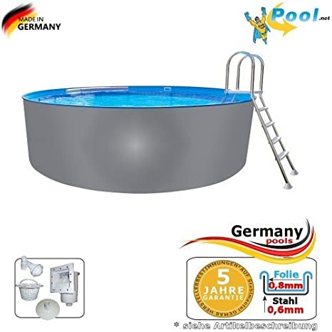 Acero inoxidable Pool 5,00 x 1,25 Pool Piscina (5 m Piscina