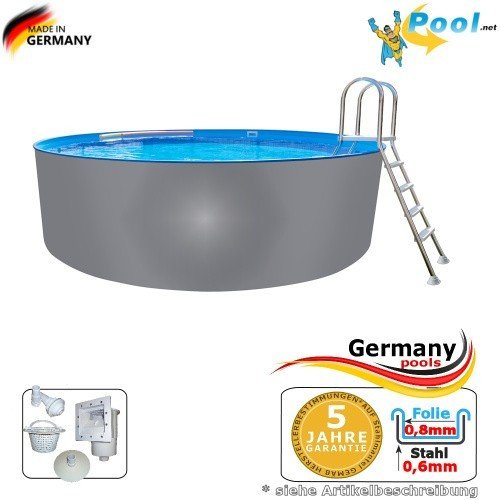Acero inoxidable Pool 5, 00 x 1, 25 Pool Piscina (5 m Piscina 5, 0 ...