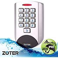 ZOTER SECURITY Metal Case Waterproof IP68 Design 125Khz ID Reader RFID Keypad for Home Office Door Access Control Security System
