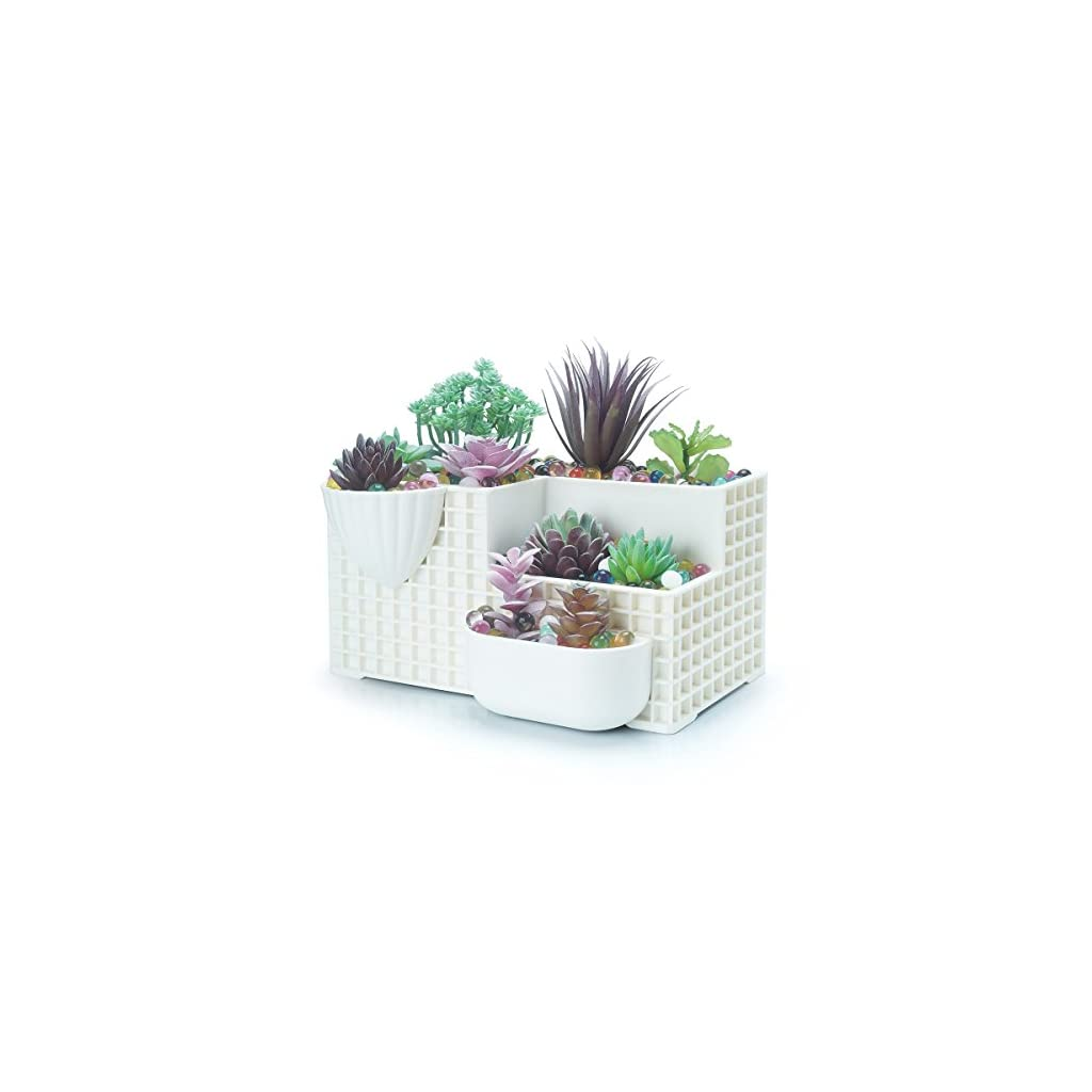 14PCS-Green-Artificial-Succulent-Bouquet-Unpotted-Faux-Frost-Greenery-Picks-Mini-Plastic-Cactus-Fake-Desert-Plants-Flower-for-Home-Garden-Wedding-Decoration-with-Small-Stone-House-Bonsai-Ornament