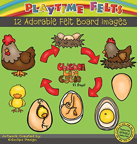 Playtime Felts Chicken Life Cycle Flannel
