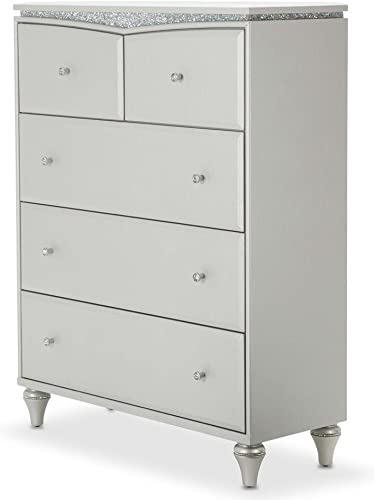 Aico Amini Melrose Plaza Upholstered 5 Drawer Chest