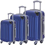Suitcase 3-Piece ABS Luggage Set Trolley Spinner Hard-shell Durable, Sturdy Lightweight Suitcases