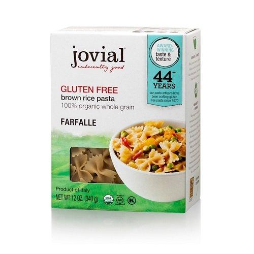 Jovial Foods, Organic Brown Rice (Farfalle Pasta,12 Oz) Pack of 3