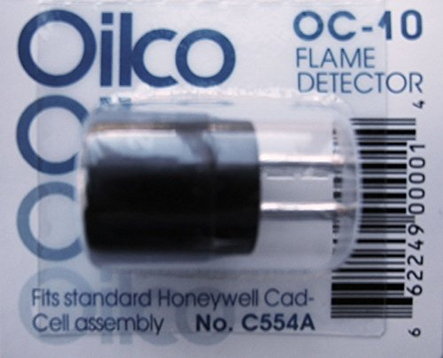 NEW OIL BURNER CAD CELL EYE, ALL makes WITH 2 pins Honeywell Westwood Crown Sid C554 (Cadmium Flame Sulfide Detector)