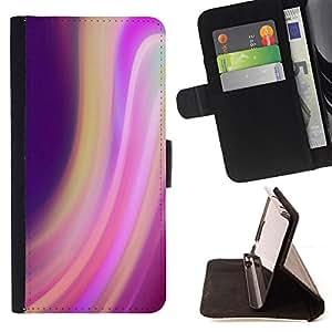 BullDog Case - FOR/Sony Xperia m55w Z3 Compact Mini / - / swirl motion purple lights blur colorful /- Monedero de cuero de la PU Llevar cubierta de la caja con el ID Credit Card Slots Flip funda de cuer