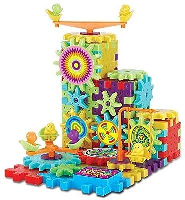 81 Piece Funny Bricks Gear Building Toy Set - Interlocking Learning Blocks - Motorized Spinning Gears from Funny Bricks