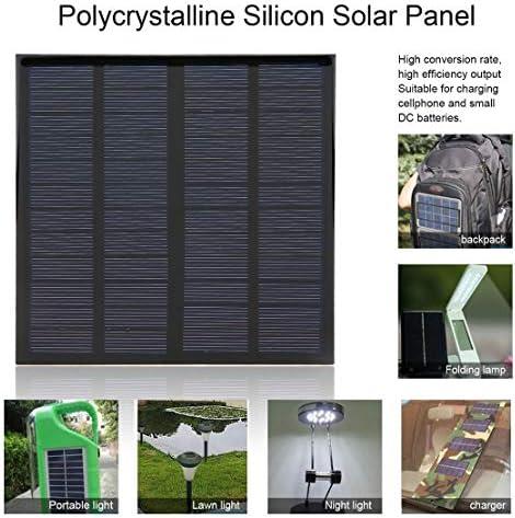 Jessicadaphne 3W 12V 125mA Polykristallines Silizium-Solarpanel Kleines Solarzellen-PV-Modul