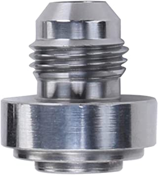 9//16-18 Thread Weldable Fuel Tank Fitting 6AN Steel Male Weld On Bung Natural,Pack of 2 AN6-6 AN
