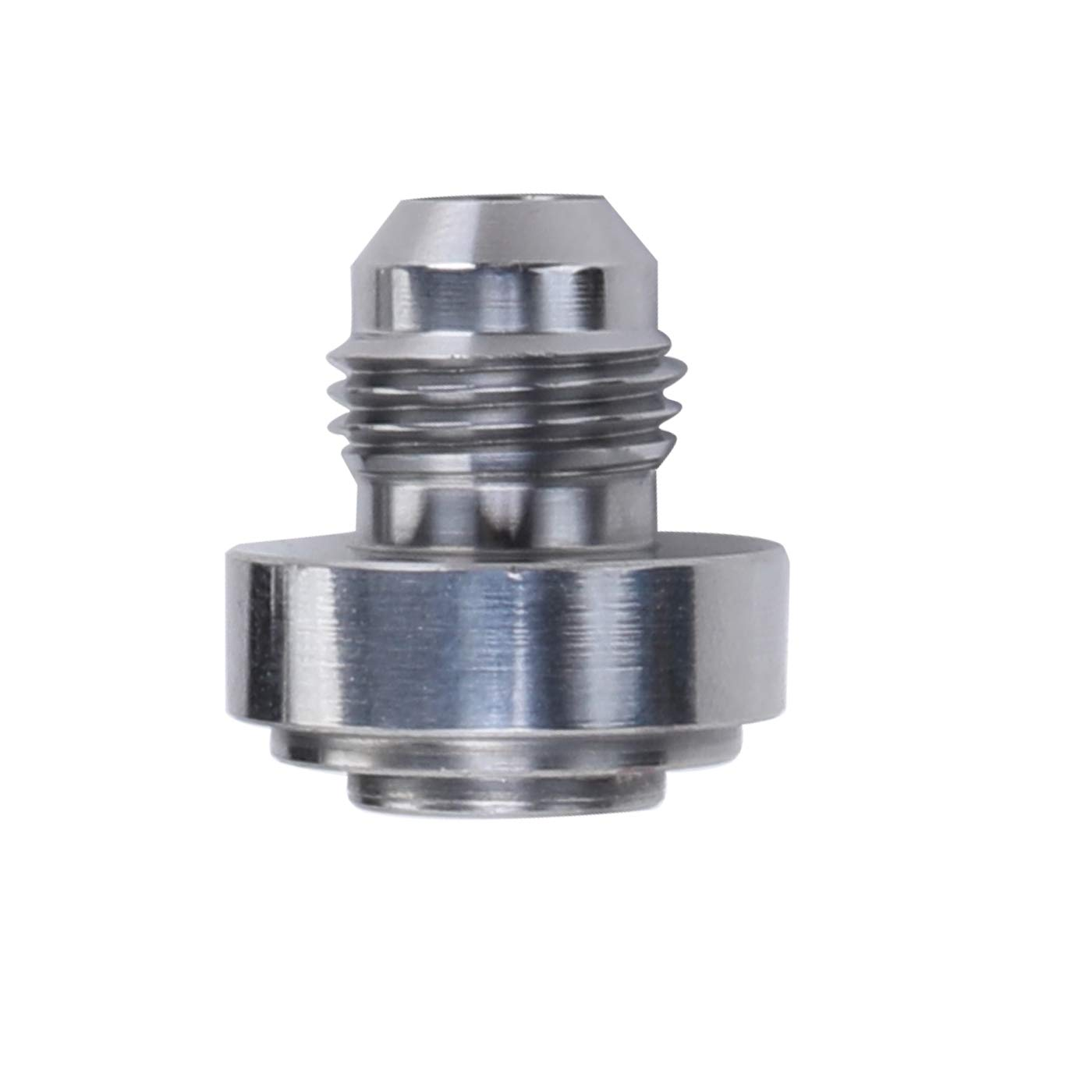Thread Weldable Fuel Tank Fitting 10AN Steel Male Weld Bung AN10 JIC-10 AN Natrual 7//8-14