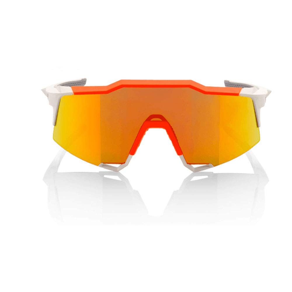 YFFS Cycling Glasses Bicycle Color-Changing Glasses Adult Outdoor Glasses Suitable for Outdoor Cycling Lovers (Color : Orange)