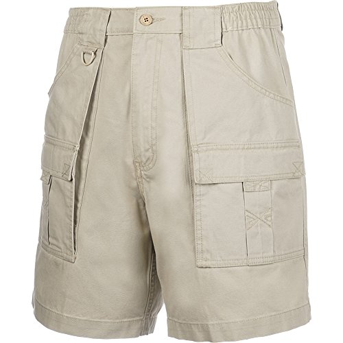 Hook & Tackle® Men's Beer Can Cargo Short Sand 38 ()