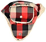 Woolrich Trapper Hat, Medium/Large, Red/Black/White Plaid