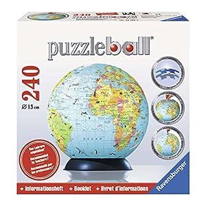 Ravensburger 11509 Mappamondo Puzzleball Da 240 Pezzi Lingua Inglese