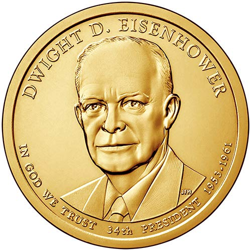 - 2015 S Proof Dwight D. Eisenhower Presidential Dollar Choice Uncirculated US Mint