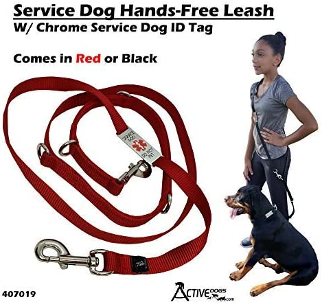 Activedogs Service Hands Free Leash Chrome product image