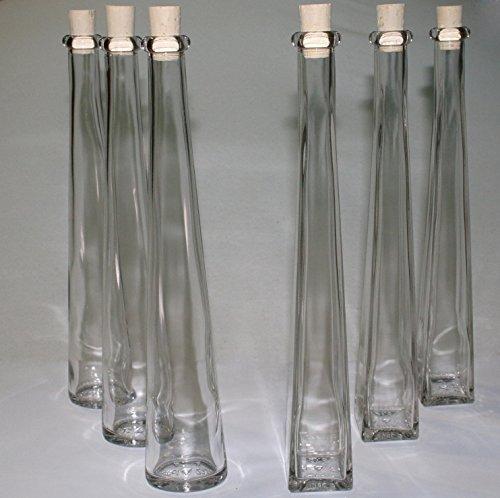 24 Set Likörflaschen Zierflaschen Glasflaschen 200ml leere Glasflasche mit Korken, zum selbst Abfüllen, 0,2l Liter, Likörflaschen, Schnapsflaschen, Essigflaschen, Ölflaschen