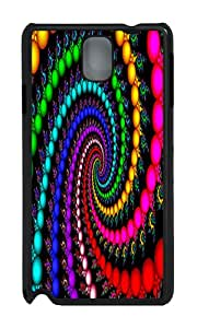 Samsung Note 3 Case,VUTTOO Cover With Photo: Trippy Spiral For Samsung Galaxy Note 3 / N9000 / Note3 - PC Black Hard Case