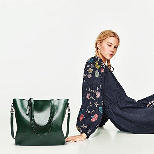 Tote Women Crossbody Messenger Ladies Handbag Bag PU Shoulder Green amp;DORIS New NICOLE Leather tqnzwEpft