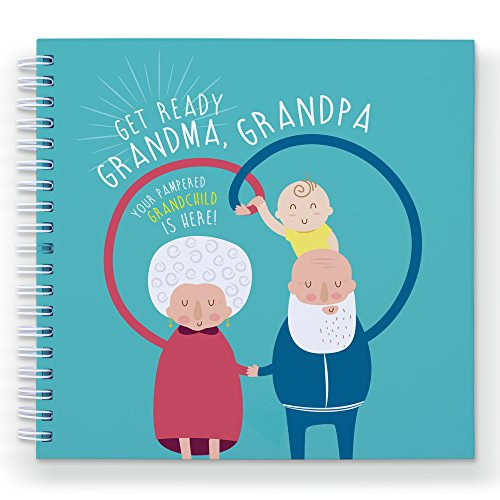 GRANDPARENTS MEMORY BOOK - GRANDMA GRANDPA AND ME - A Cute Journal For Treasure The Best Moments With Granchild And Grandparents. Gifts For Grandparents, Baby Shower Gift, Baby In, Baby's Journal
