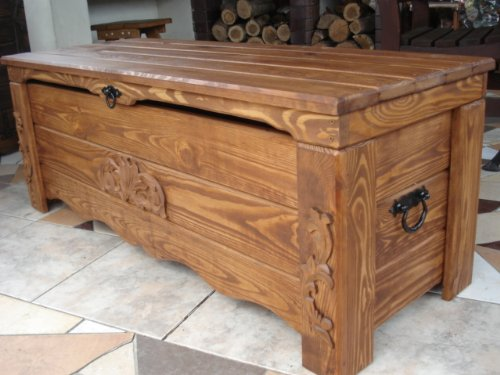 Wooden Blanket Box Coffee Table Trunk Vintage Chest Wooden Ottoman Box  (BT1): Amazon.co.uk: Kitchen U0026 Home