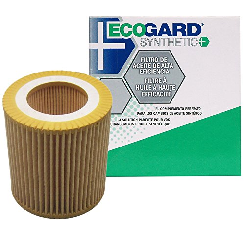(ECOGARD S5607 Cartridge Engine Oil Filter for Synthetic Oil - Premium Replacement Fits BMW 328i, X3, X5, 328i xDrive, 528i, 335i, 535i, 535i xDrive, X1, 325i, 528i xDrive, 328xi, 320i, Z4, 128i)