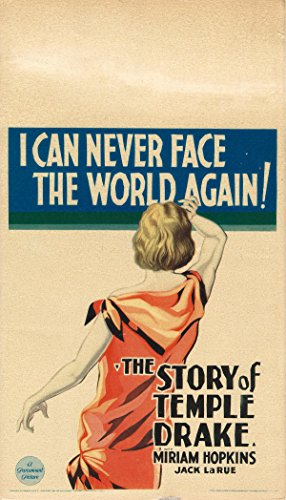 STORY OF TEMPLE DRAKE, THE (1933) Mini/midget window card poster for Faulkner adaptation