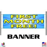 First Month Free Promotion Vinyl Banner Business Sign Indoor Outdoor Retail Shop
