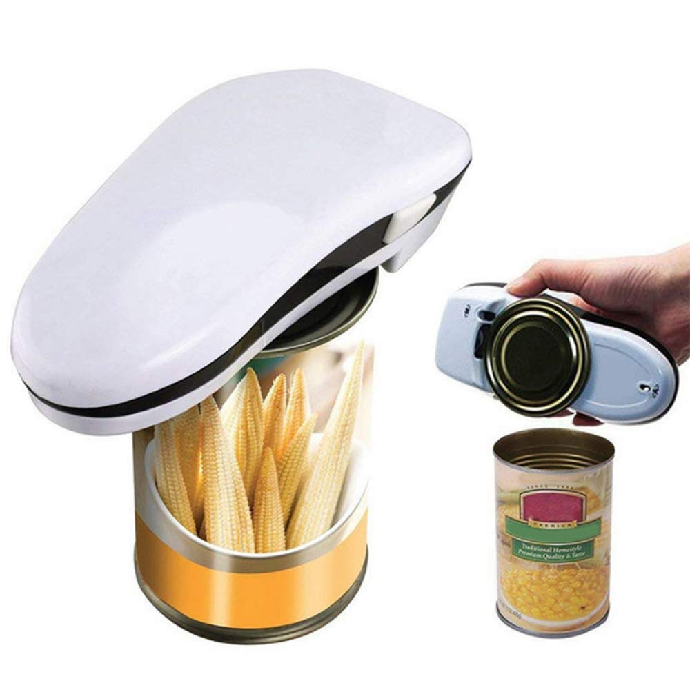 KAIPINGQI Portable Automatic Electric can Opener Bottle Jar Bottle Opener Fit Any Size can Restaurant Kitchen Tools Accessories by KAIPINGQI