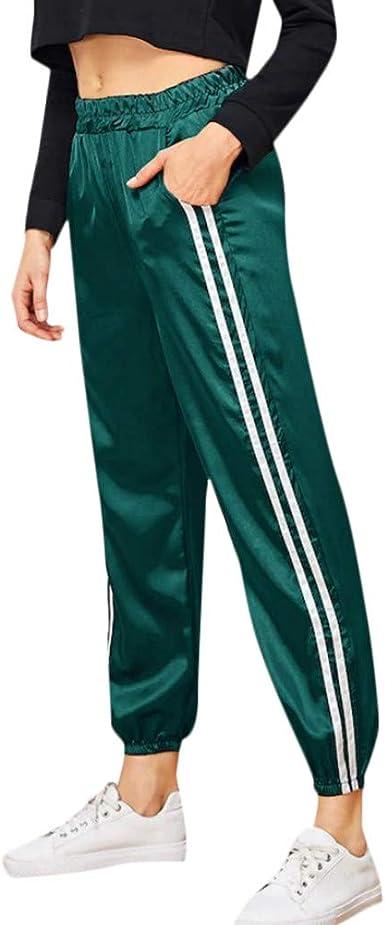 Pantalones Largos de chándal, Cintura elástica, Pantalones de ...