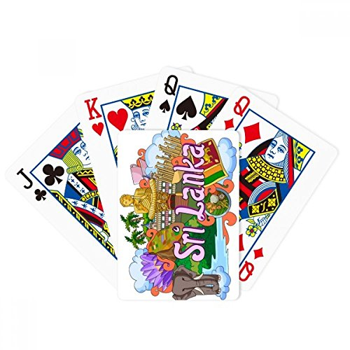 Dambulla Elephant Sri Lanka Graffiti Poker Playing Card Tabletop Board Game Gift by beatChong