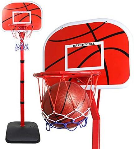 調節可能な子供用バスケットボールフープ、0.8-2.2m昇降式シューティングフレーム、家庭用屋内ボールスタンド、ポンプとバスケットボール付き
