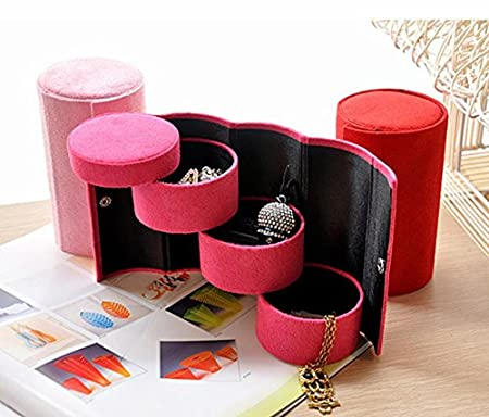 Chytaii Caja de Joyer/ía Joyero Multifuncional Caja de Almacenamiento para Anillos//Pendientes//Collar Caja de Almacenamiento Caja Joyero de Franela para Pulsera Regalo