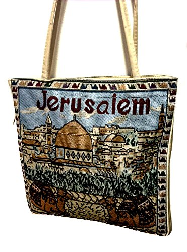 Jerusalem Camel Handmade Hand-bag Hand Bag Zipper Cloth Beautiful Holy Land Jewish Cloths
