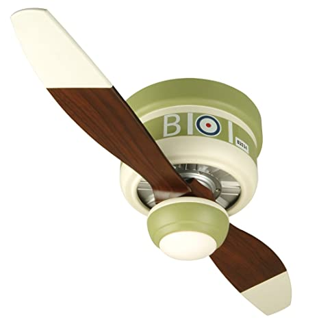 Nice Craftmade Ceiling Fan Kids Room WB242SC2 Sopwith Camel Warplane, 42 Inch  Flush Mount With Remote And Dimmable Light     Amazon.com