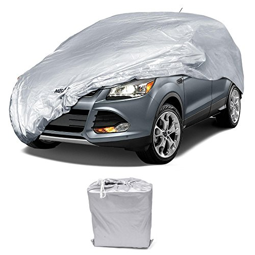 "Motor Trend All Season WeatherWear 1-Poly Layer Snow Proof, Water Resistant Van / SUV Cover Size L - Fits up to 185"" BDK SUV Covers"
