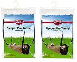 (2 Pack) Kaytee Simple Sleeper Play Tunnel, Colors Vary