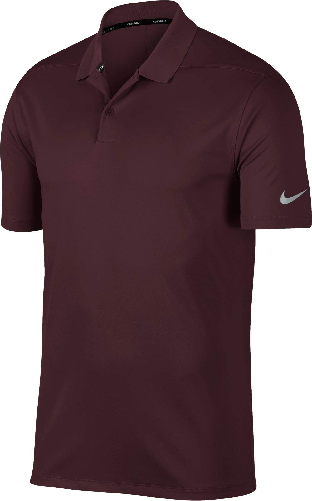 NIKE Men's Dry Victory Solid Golf Polo (Burgundy Crush/Black, Large)