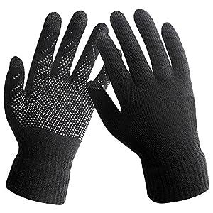 Touch Screen Knitted Non-slip Gloves Unisex Plus Velvet Winter Gloves Mittens