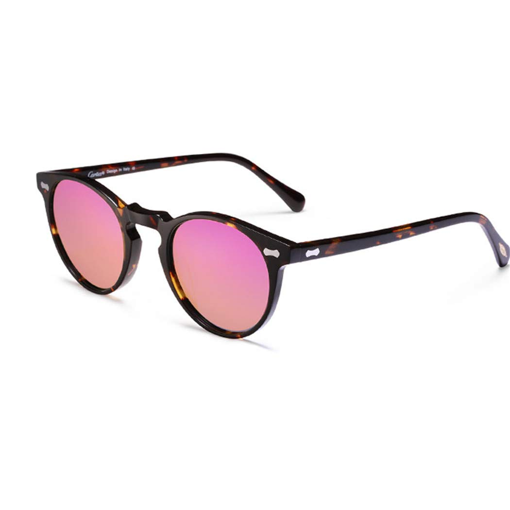 Polarized Sunglasses Classical Vintage Sunglasses Men Women Round Sun Glasses pink