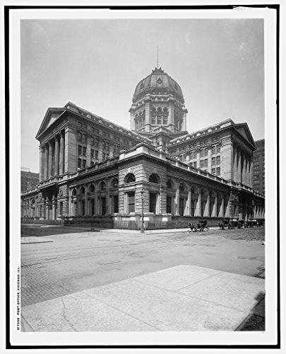 Vintography 40 x 30 Ready to Hang Canvas Wrap Post Office Chicago Ill 1903 Detriot Publishing 35a by Vintography (Image #1)