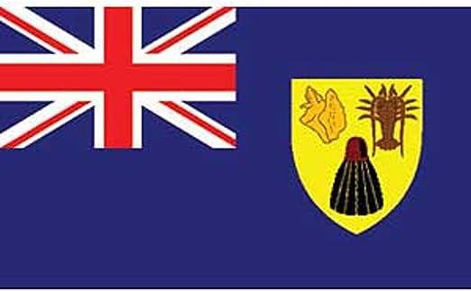 Islas Turcas Y Caicos Bandera 3 Pies X 5 Pies Amazon Es Jardin