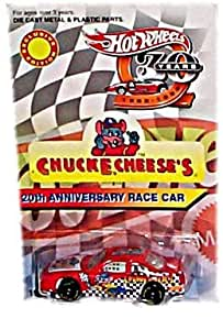 Hot Wheels - Exclusive Edition - Chuck E. Cheeses - 20th Anniversary Race Car (#20) - Orange Color w/Chuck E. Cheese Graphics on Side and Hood