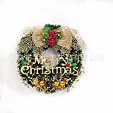 Christmas Garland for Stairs fireplaces Christmas Garland Decoration Xmas Festive Wreath Garland with Christmas wreath Christmas tree rattan vines,50cm