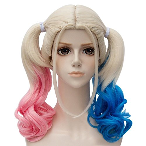 Suicide Squad Harley Quinn Pink Blue Cosplay Wig (A) (Harley Quinn Children)
