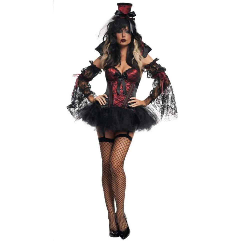 Olydmsky karnevalskostüme Damen Halloween Kostüm Bar Cosplay Kostüm böse Zombie-Vampir Kostüm Party Kostüm