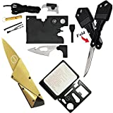 Credit Card Tool Wallet Tool Tactical Multitools with 18 in 1 Pocket Tool Survival Tool,Folding Card Knife Wallet Knife,11 in 1 Multitool Card,Key Knife Keychain Knife,4 Type/Set Tactical Gear Tool