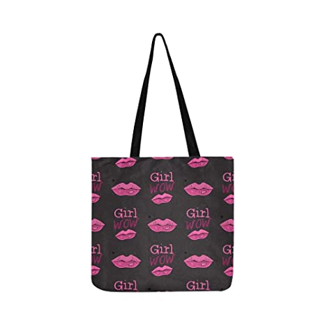 Girl Wow Kiss Modern Comic Canvas Tote Bolso Bandolera ...
