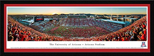 Arizona Football - Stripe - Blakeway Panoramas College Sports Posters with Select Frame ()